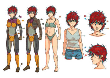 [COMM] Rieza Character Sheet 2 by Jefra
