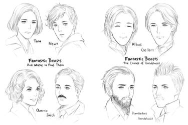 Fantastic Beasts by Rosy-Iris