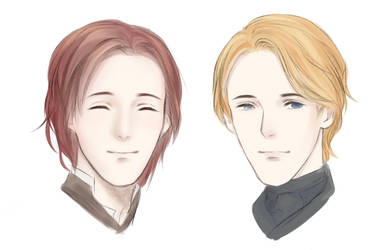 Albus and Gellert by Rosy-Iris