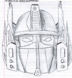 Optimus Prime Faceplate Sketch by TheREALJetCannon