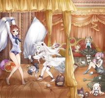 Slumber Party by destizeph