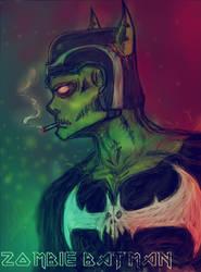 Zombie Batman by father12345