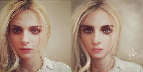 Andreja pejic painting by father12345