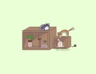 Isometric Cats by DustiiBunnii