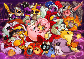The kirby game lot collab by Evanatt