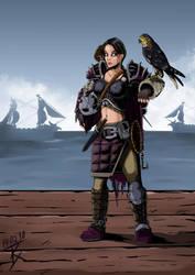 Theolea the Falconer by GeneralBloodrain
