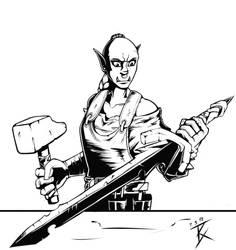 Kraktos the Blacksmith by GeneralBloodrain