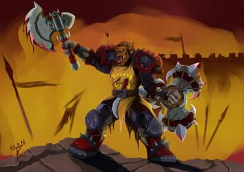 Throgosh Blazefury by GeneralBloodrain