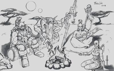 Campfire by GeneralBloodrain