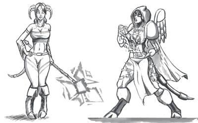 Keionna sketches by GeneralBloodrain