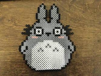 Totoro Perler by cursedcrown96