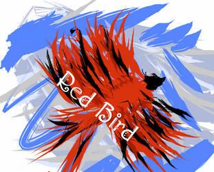 Red bird by KHRFAN123