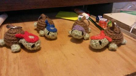 Ninja Turtle Keychains by Yoroko666