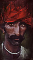 Red turban man by Wilustra