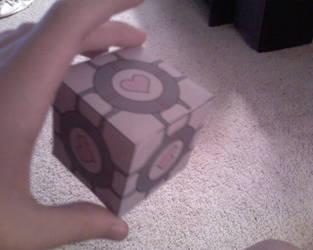 Companion Cube Papercraft by MUDKIP77