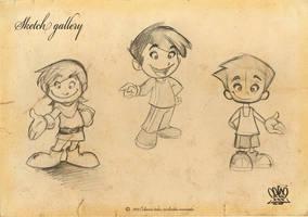 sketch Boys by celaoxxx
