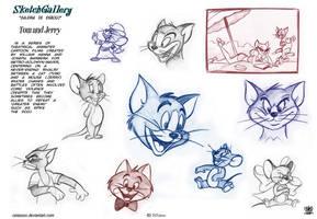 Tom and Jerry Sketch gallery 2 by celaoxxx