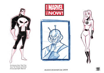 character design Marvel Now concept art by celaoxxx