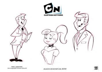Hanna Barbera characters fans by celaoxxx