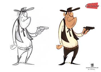 Cartoon bad Cowboi by celaoxxx