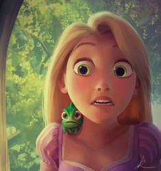 Rapunzel Digital Painting + Steps by nataliebeth