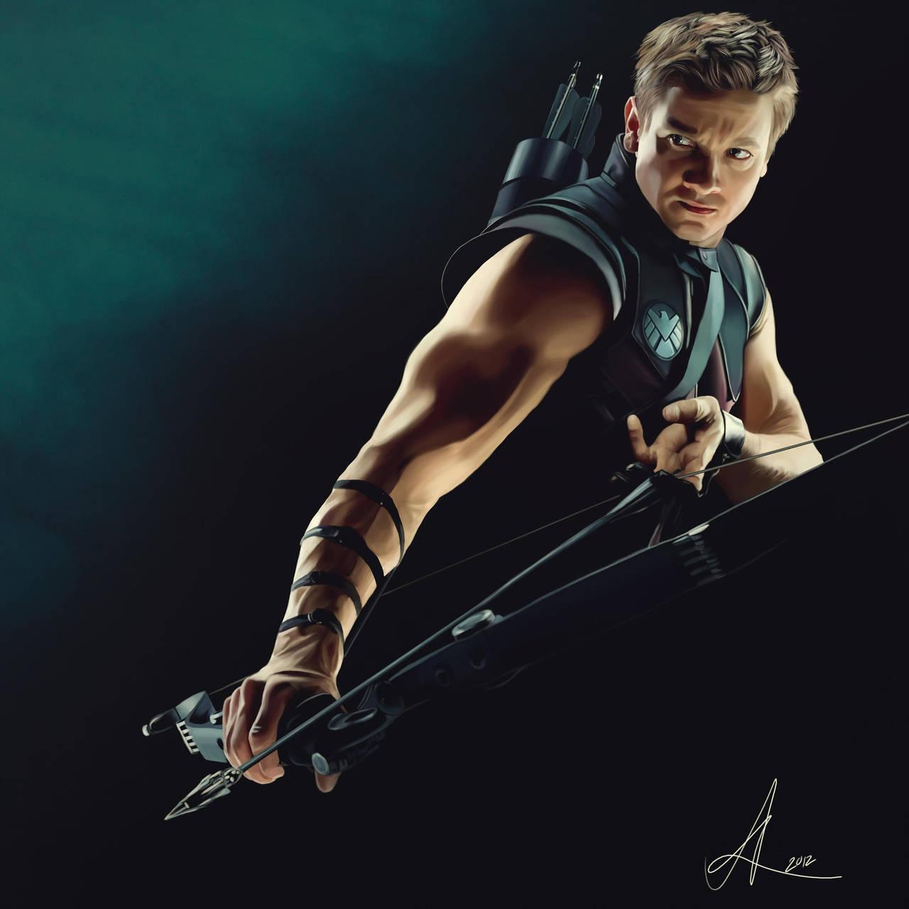 Hawkeye - Digital Painting + Steps by nataliebeth