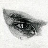 Ben Barnes Eye Drawing by nataliebeth