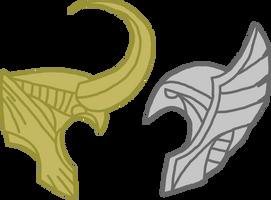 Helmet - Thor and Loki by Dragon-Flash