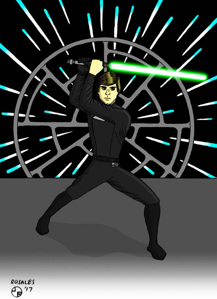 Luke Skywalker ROTJ by ArtSpillGalaxy