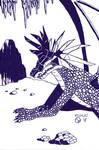 Headdress Dragon inks by ArtSpillGalaxy