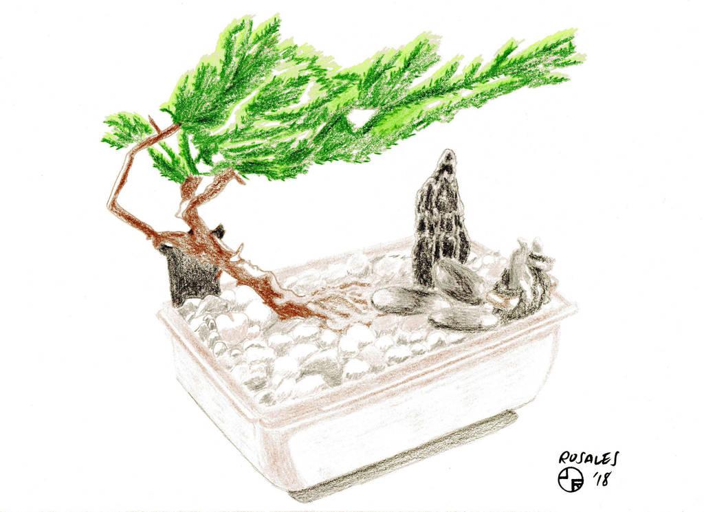 Bonsai Tree Sketch by ArtSpillGalaxy