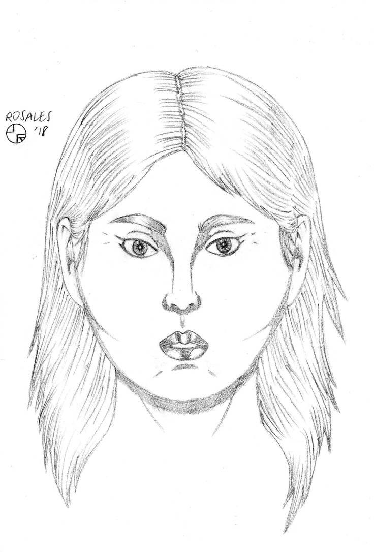 Random Female Portrait 4 by ArtSpillGalaxy