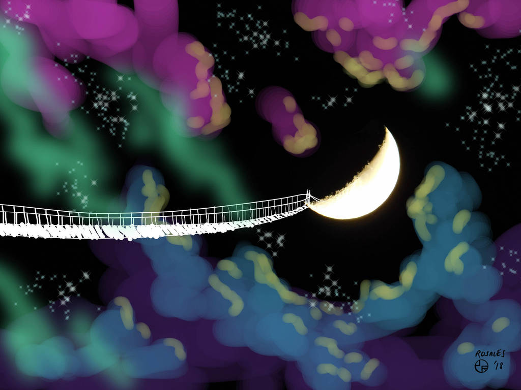 Bridge to the Moon by ArtSpillGalaxy