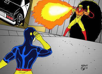 Cyclops vs. Pyro XMTAG by ArtSpillGalaxy