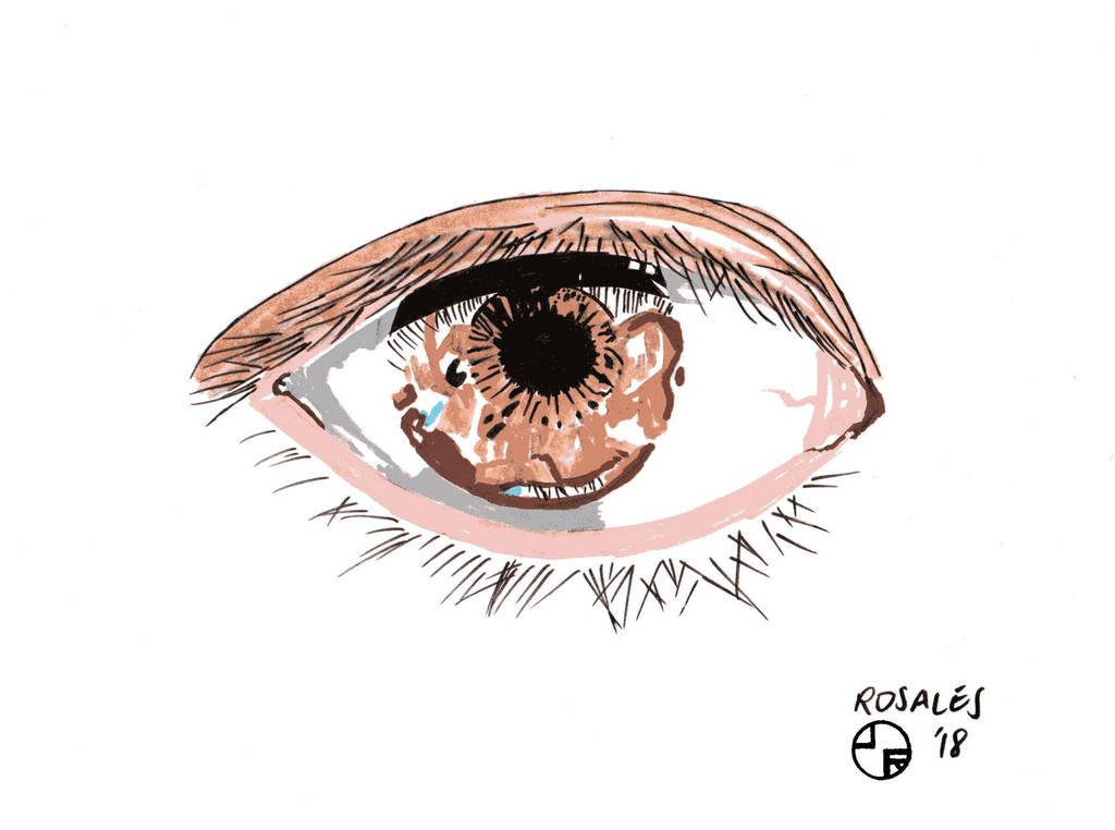 My Eye Drawing by ArtSpillGalaxy
