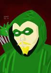 Green Arrow Bust by ArtSpillGalaxy
