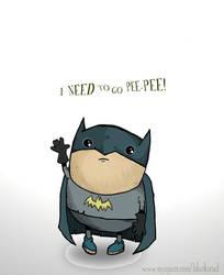 Little Fat Batman pee pee face by DanielHurd