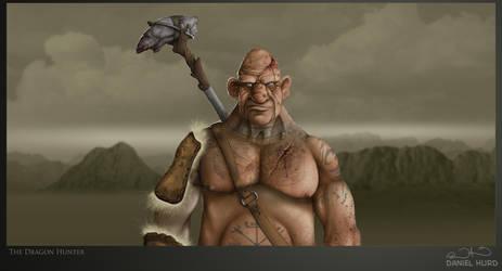 Dragon hunting Mountain Ogre by DanielHurd