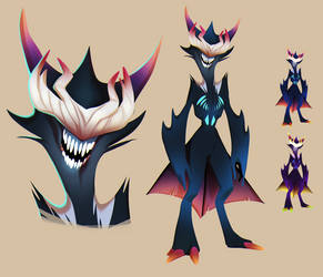 Demon Character Design by Krossan