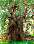 The Tree of Life in Spring by RebeccaTripp