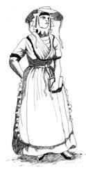 Dutchwoman XVI Century by fj-garcia