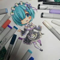 Chibi Rem by NauticaWilliams