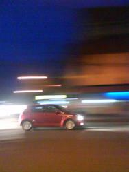 speeding swift in night by ReizielSuzuki