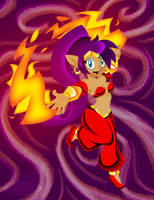 Shantae-fire by OmegaSunBurst
