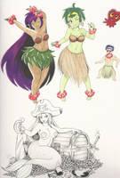 Vacation Doodle: 05 Shantae by OmegaSunBurst