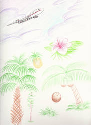 Vacation Doodle: 07 Tropics by OmegaSunBurst