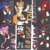 Old Sonic drawings by OmegaSunBurst