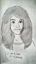 Amgi (Self portrait Sketch) by 92CaptainWolf