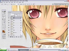 working by Miyanko-chan