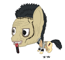Bobble-Head Pony: Leather Face by Super-Zombie